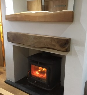 Solid Oak Fire Place Beam (Product Code BEAM002)